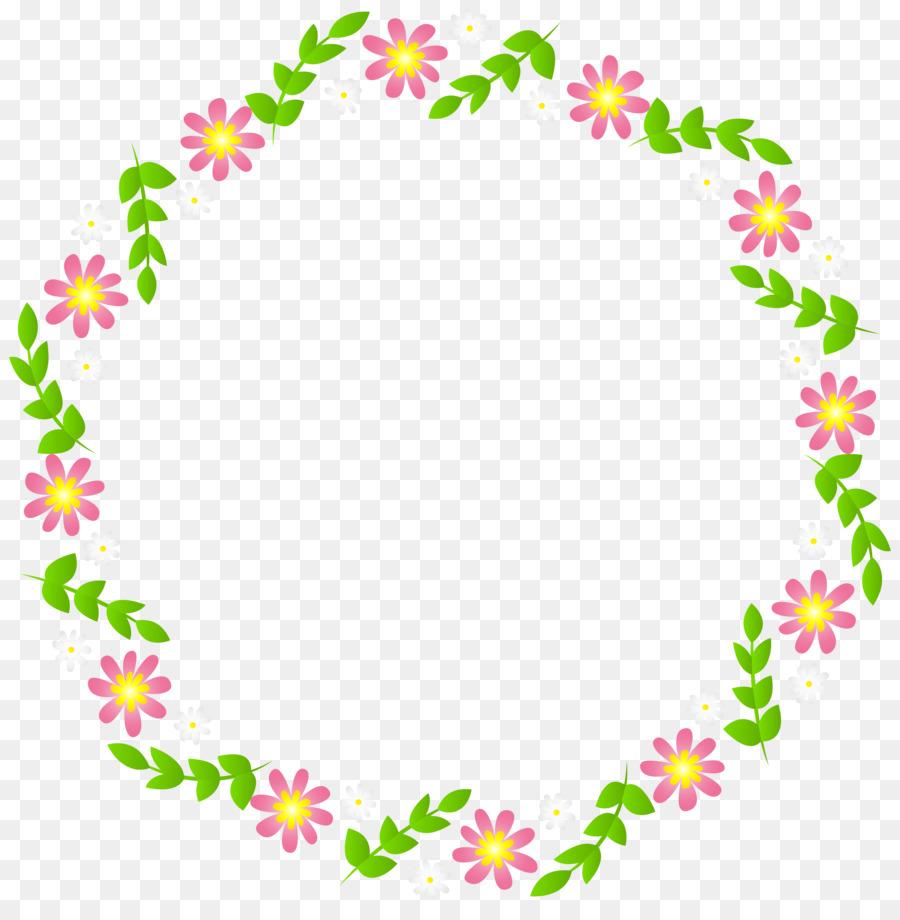 Clipart - Dekorative Blumen Draht Rahmen png herunterladen - 7931 ...