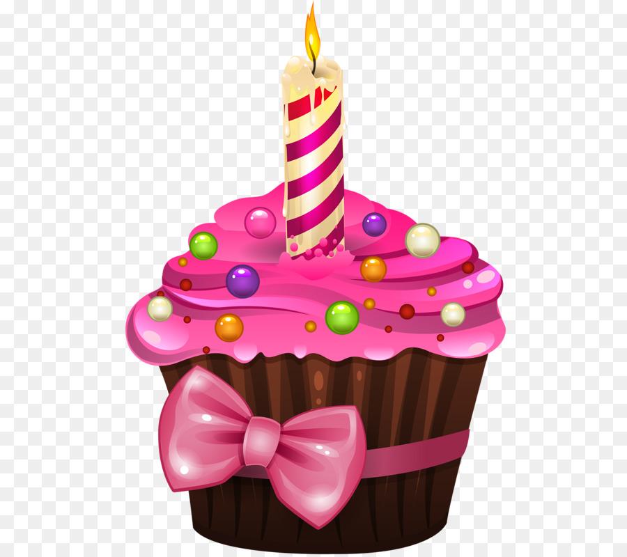Cupcake Birthday Cake Frosting Icing Pink PNG