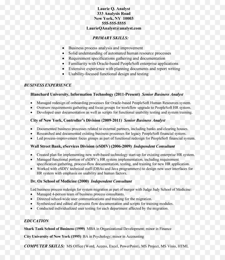 Resumen de la Plantilla de Curriculum vitae Trabajo descripción de ...