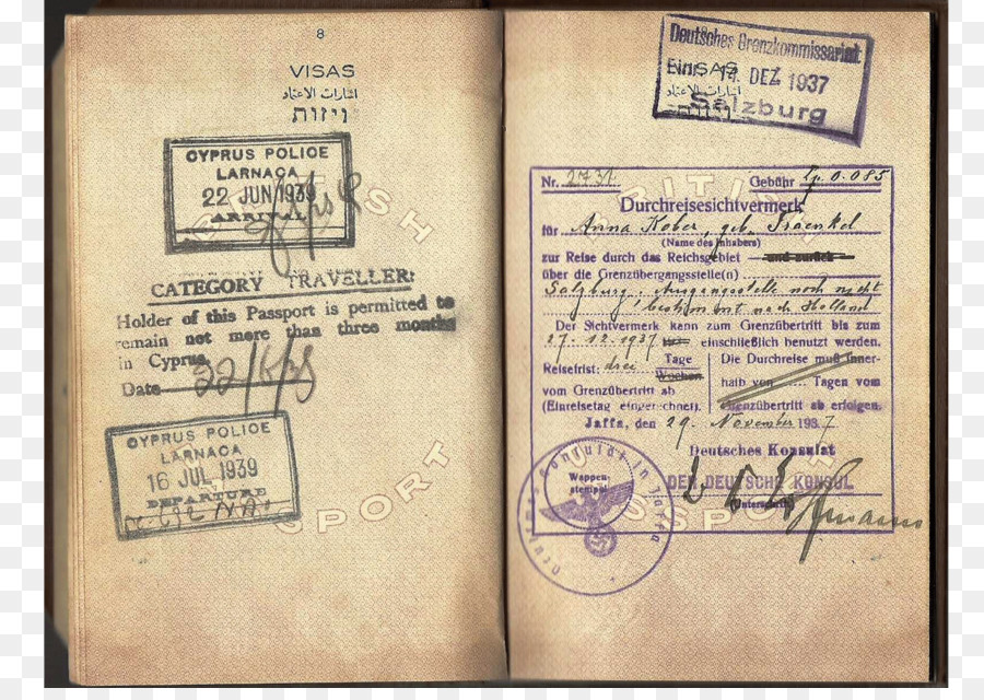 Document Second World War German Passport Munich Agreement Iraqi
