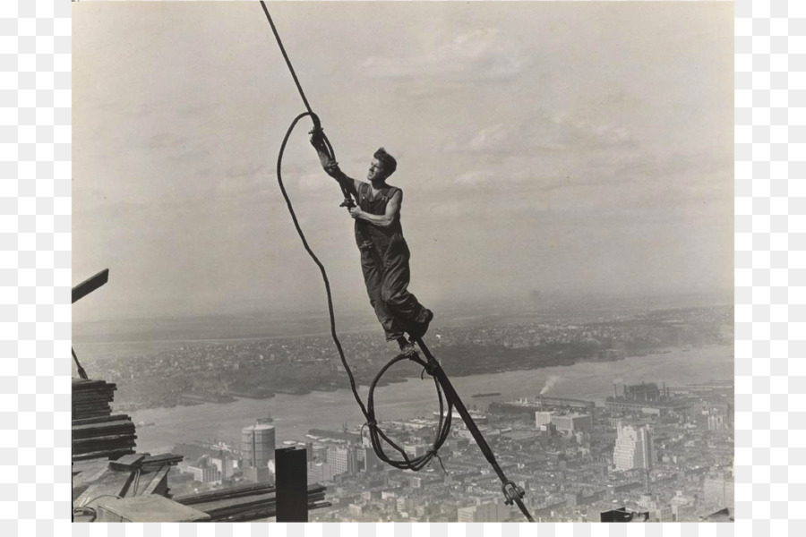 Empire State Building Construction Chrysler Derrick Man