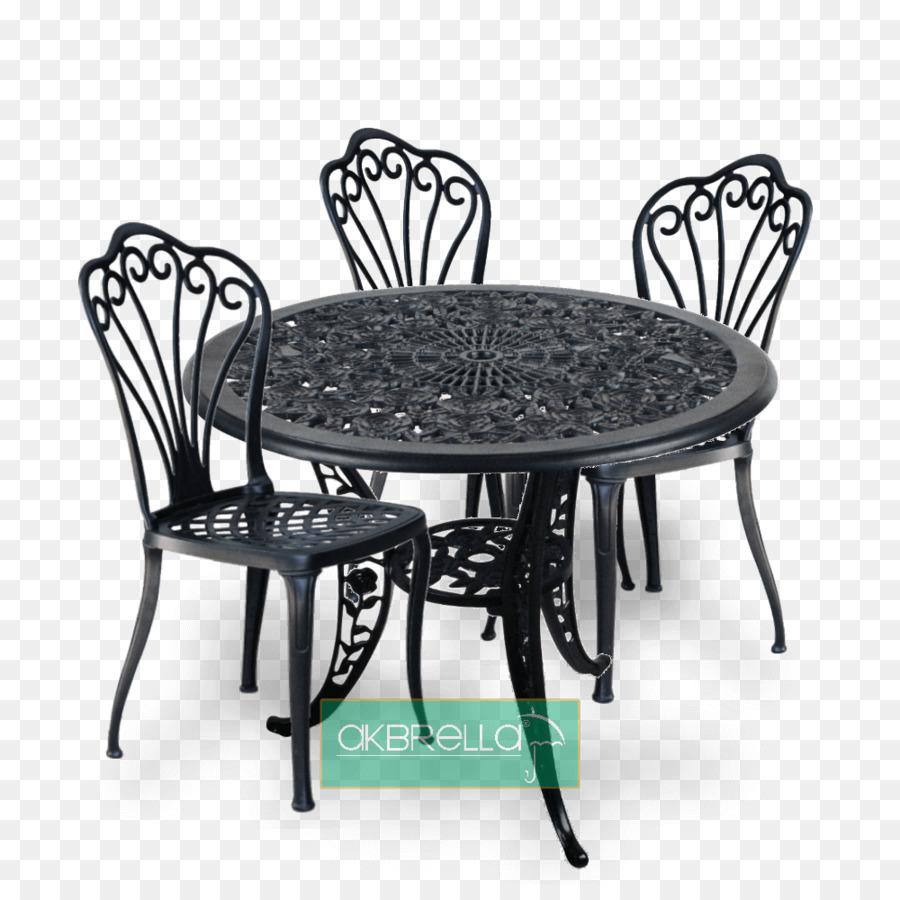 Table Chair Cast Iron Wrought Iron   Tavus Kuşu