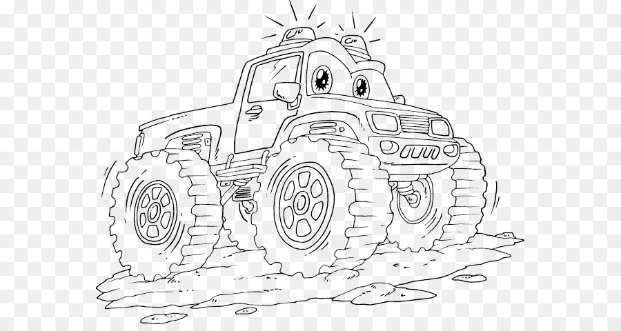 Car Monster truck Coloring book Grave Digger - Monster Trucks png ...