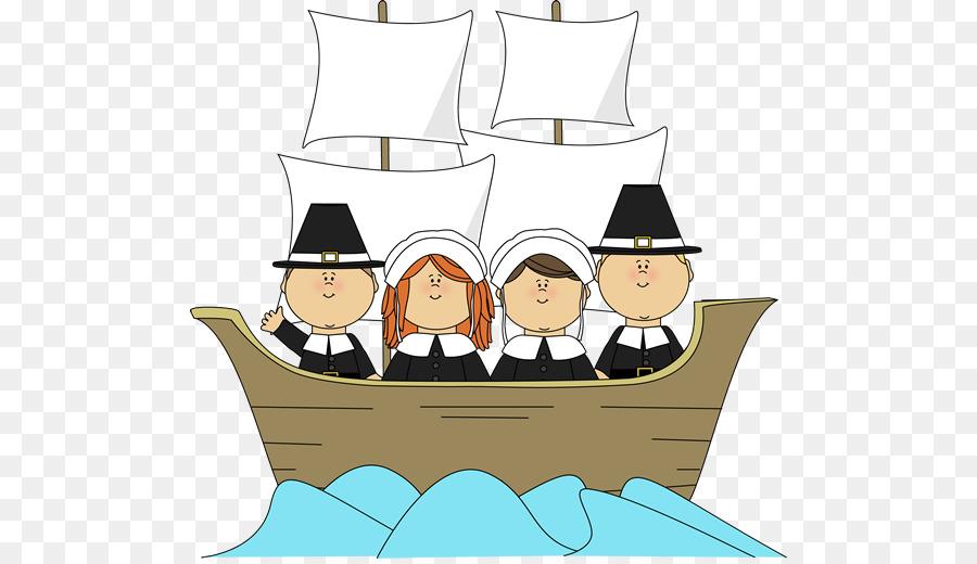 Mayflower II a los Peregrinos de acción de gracias, Clip art - día ...