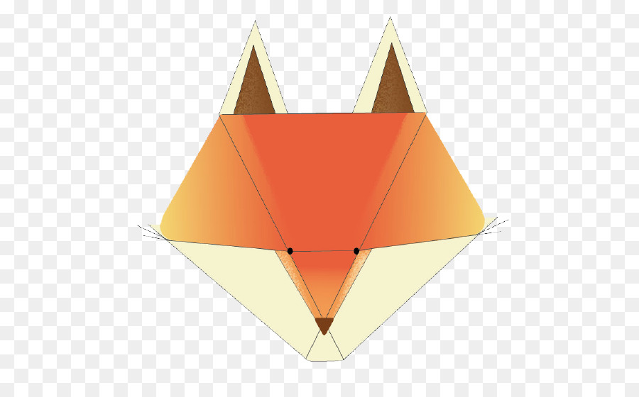 Origami Paper Triangle Mr Fox Png Download 588558 Free