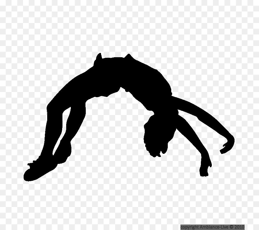 silhouette cheerleading tumbling gymnastics clip art pole vault rh kisspng com tumbling clipart silhouette gymnastics tumbling clipart