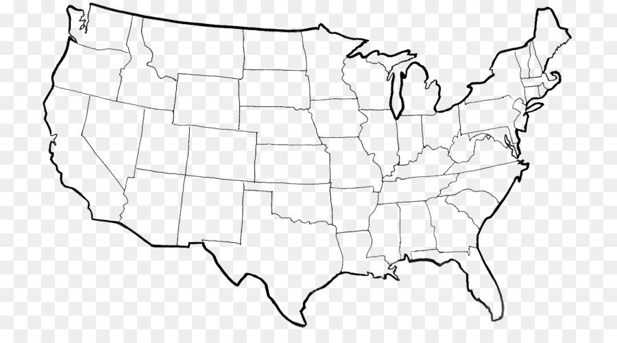 Página de libro para Colorear, Mapa de estado de estados UNIDOS ...
