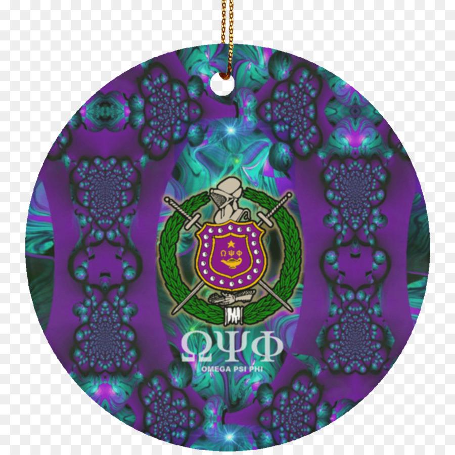 Omega Psi Phi Christmas Ornament Bulldog Ceramic Symbol Omega Psi