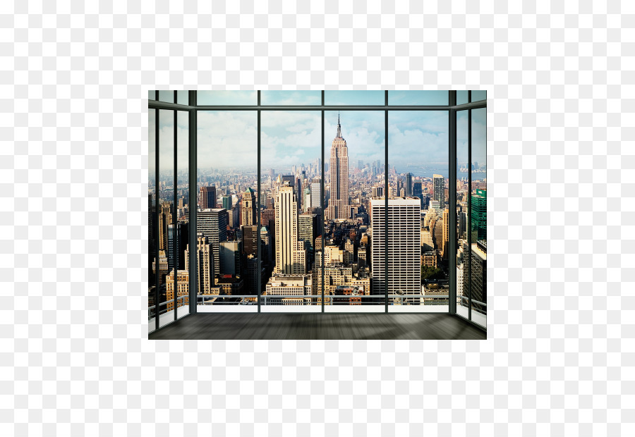 new york city wall decal skyline mural wallpaper house png