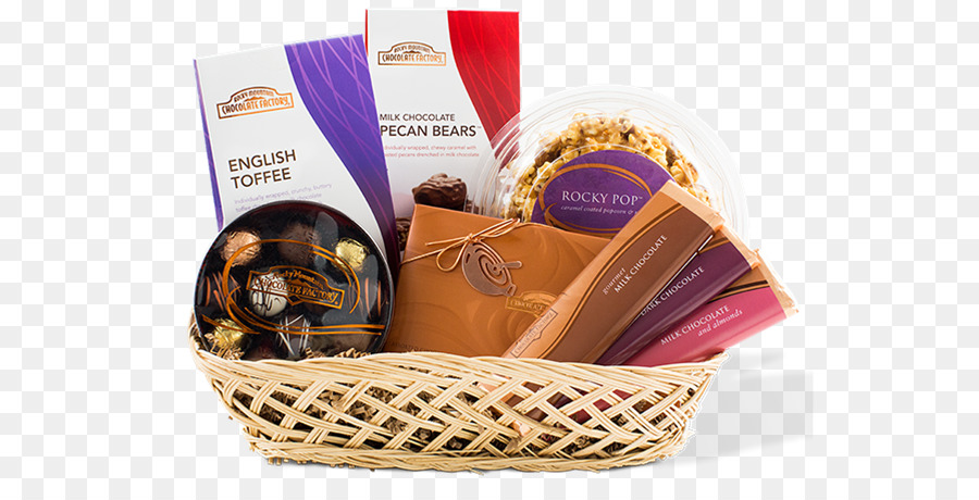 Food Gift Baskets Chocolate truffle Caramel apple Fudge - chocolate png download - 600*450 - Free Transparent Food Gift Baskets png Download.