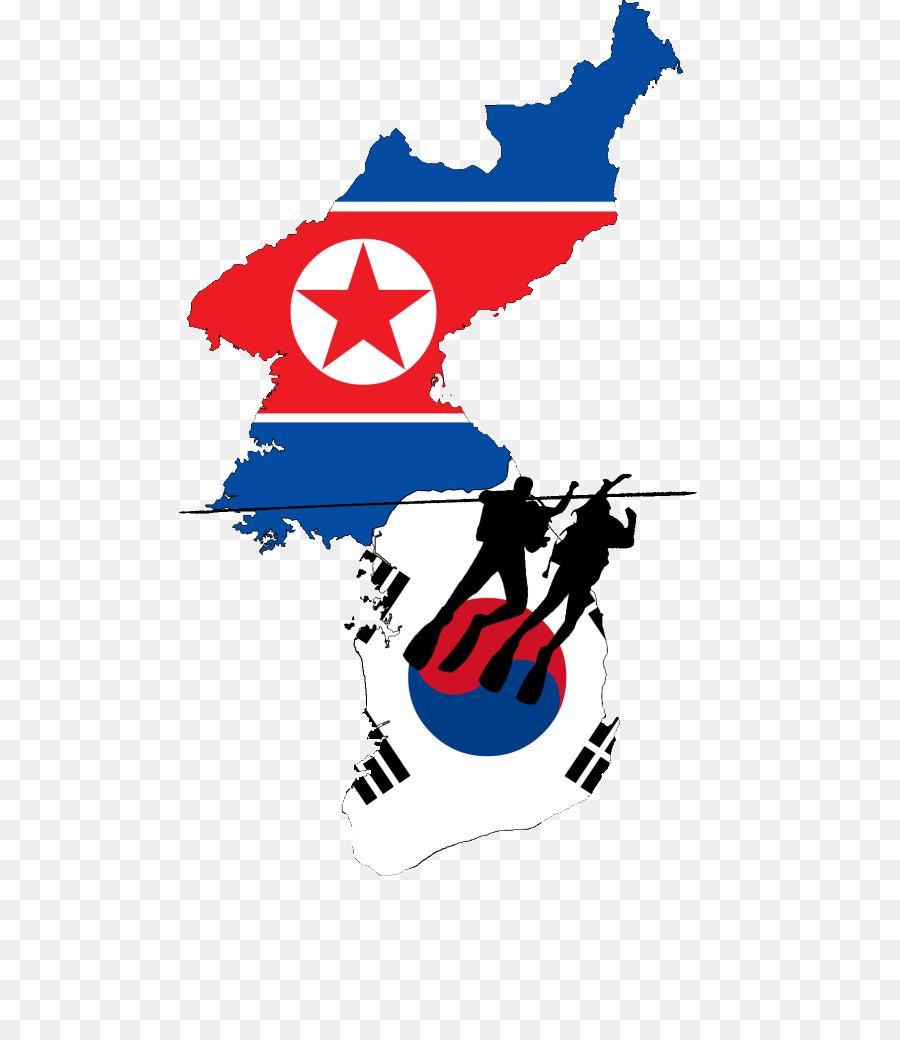 Flag of North Korea South Korea Map - map png download - 548*1024 ...