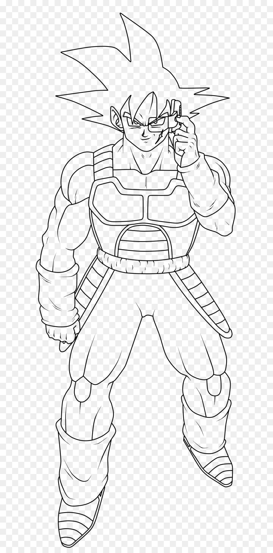 Bardock Goku Coloring book Drawing Dragon Ball - goku png download ...