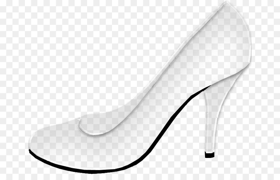 Blanco Zapatos Para Caminar - Zapatos De Cristal png dibujo ...
