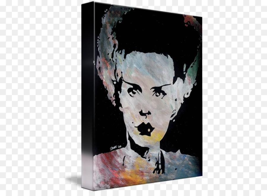 Moderne Kunst Acryl Malen Visual Arts Portrait Frankensteins Braut