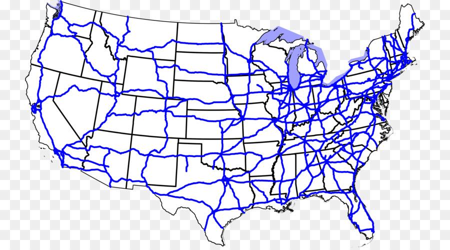 US Interstate highway system Interstate 70 Road Interstate 40 Map ...