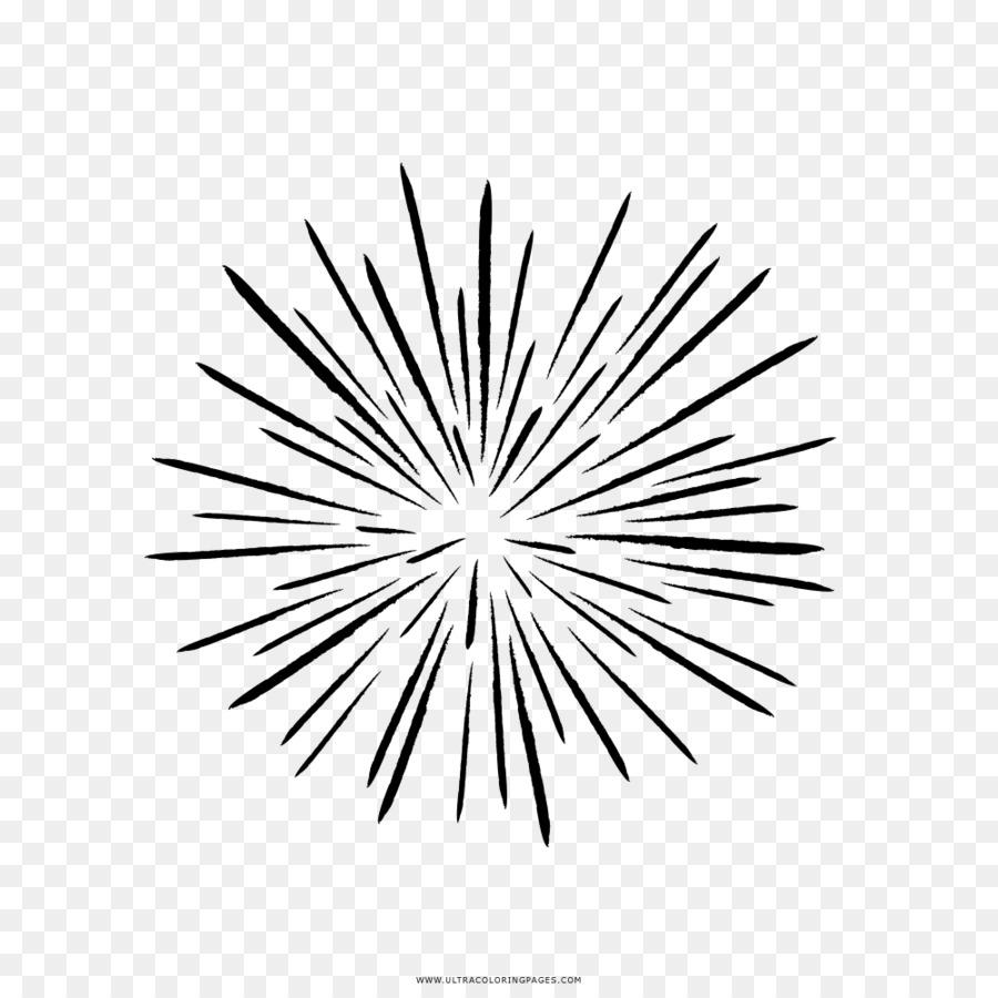 Dibujo En Blanco Y Negro De Los Fuegos Artificiales Fuegos