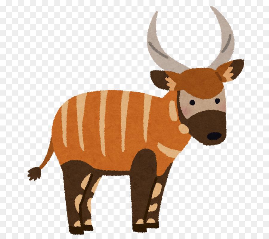 Ganado Antílope de Cuerno de Ciervo Clip art - Bongo animal png ...