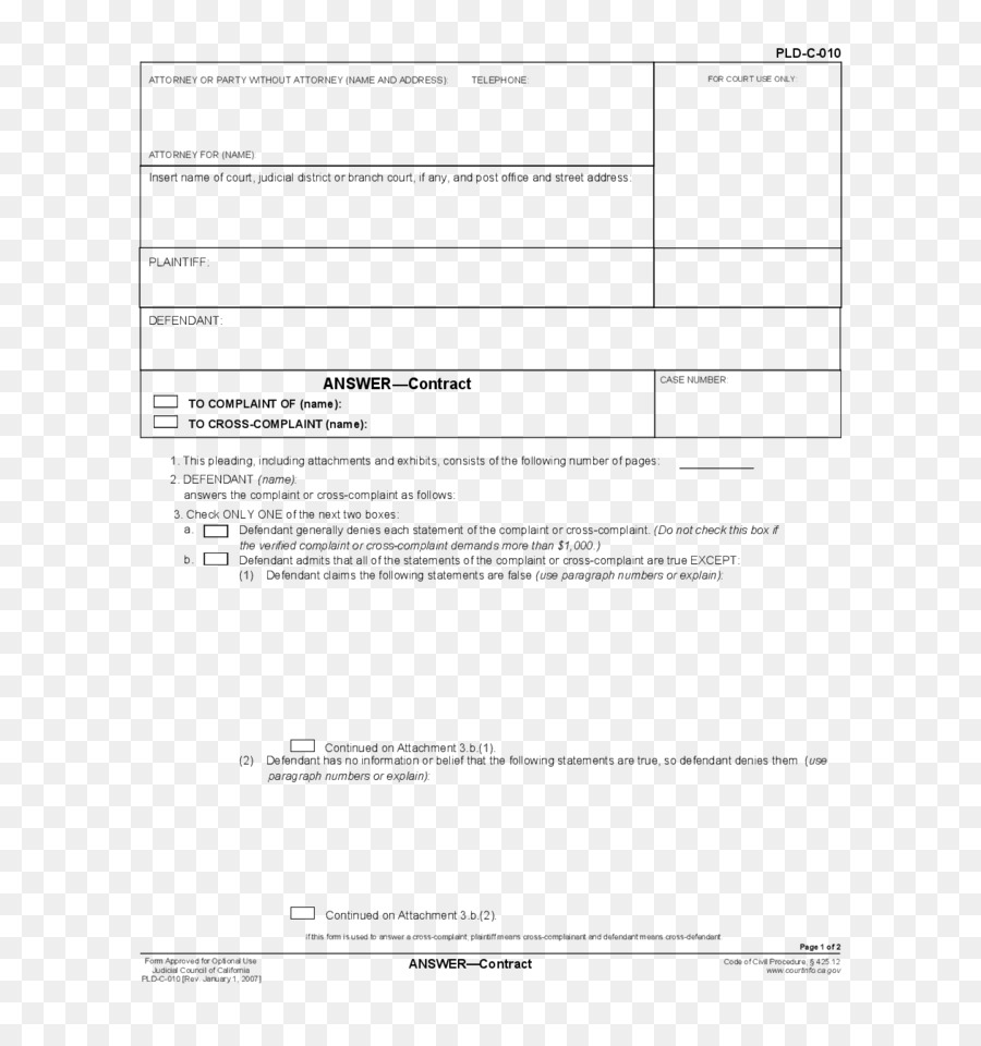 Document California Pleading Court Template - pleading png download ...
