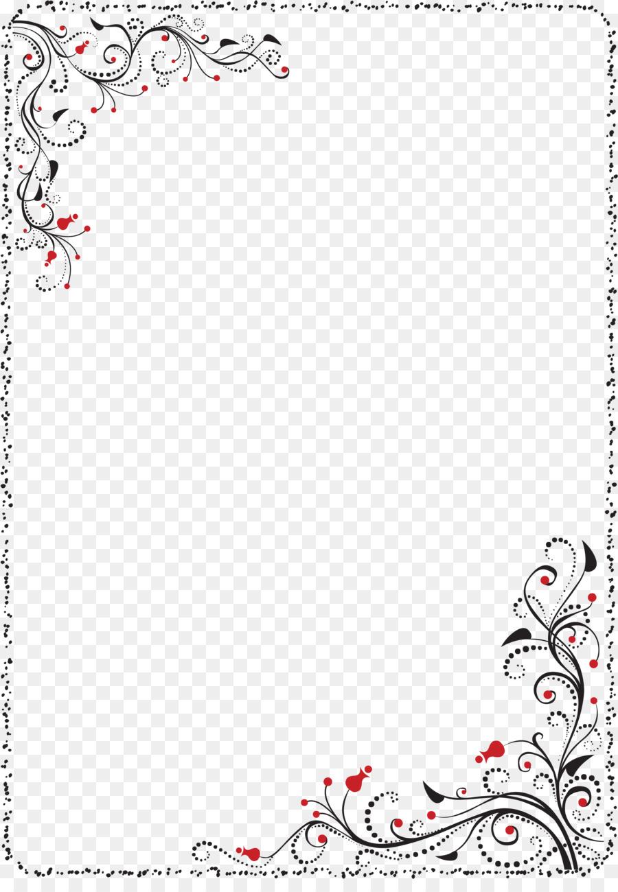 Bordes y Marcos de diseño Floral Clip art - diseño Formatos De ...