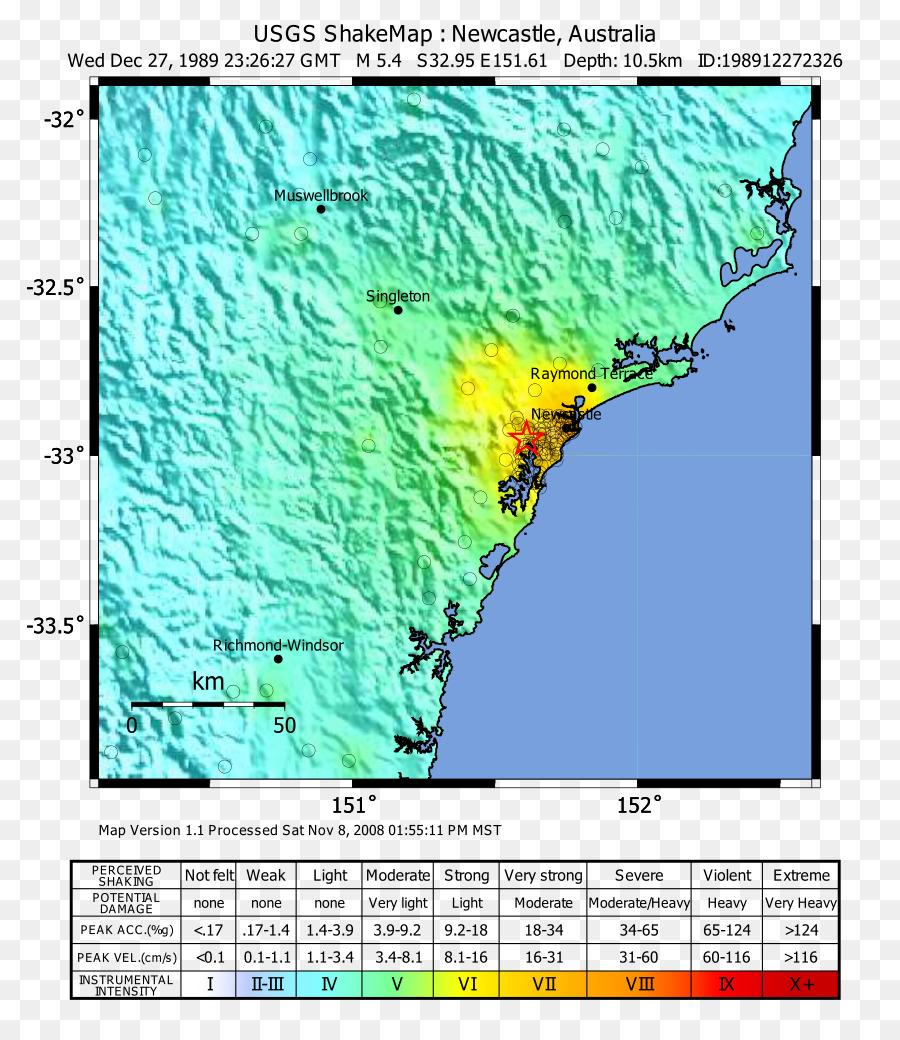 2016 Tanzania earthquake 1989 Newcastle earthquake Map United States ...