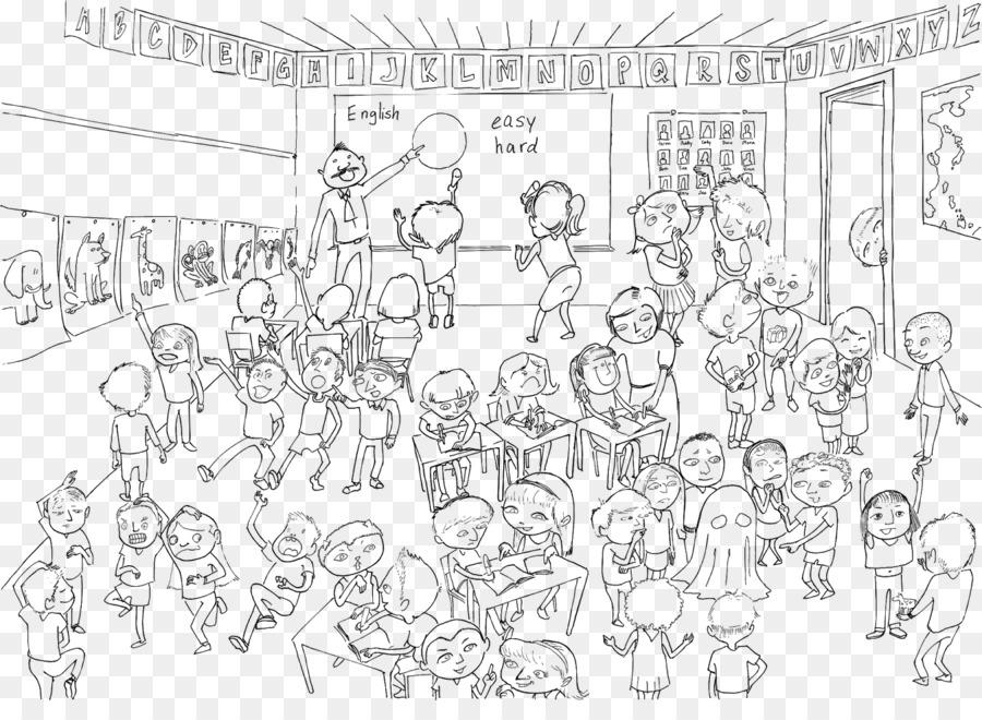 Kelas Sekolah Guru Siswa Pelajaran Sekolah Unduh Garis Seni