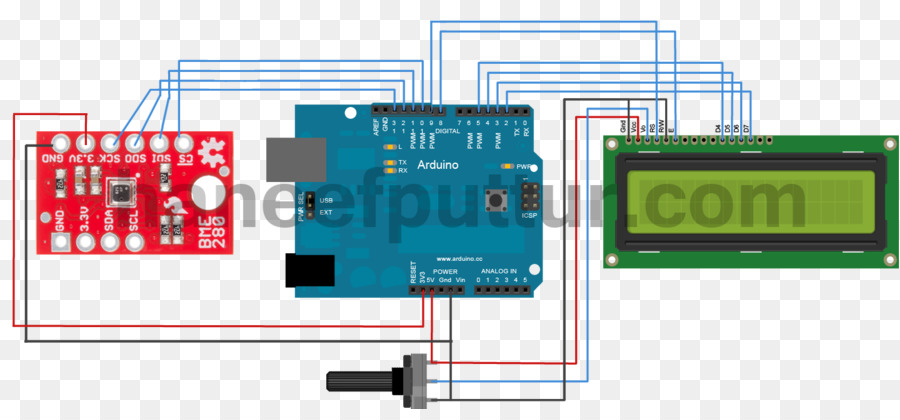 Arduino Wiring diagram Liquid-crystal display Circuit diagram ...