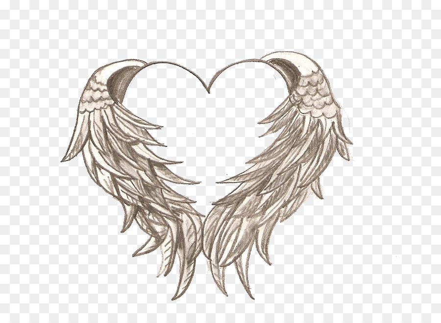 drawing heart angel tattoo coloring book angels and demons png