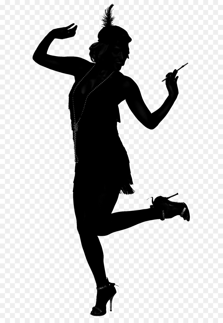 1920s flapper roaring twenties silhouette dance silhouette png