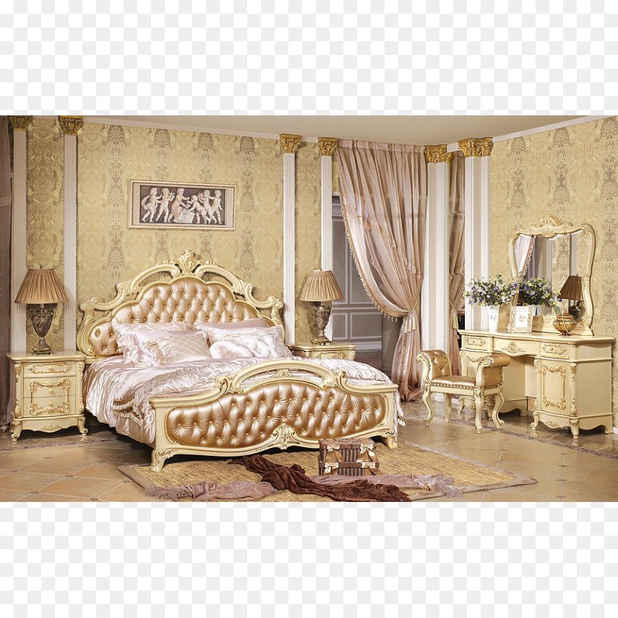 Gepolsterter Barock-Schlafzimmer-Dekoration - Bett png ...