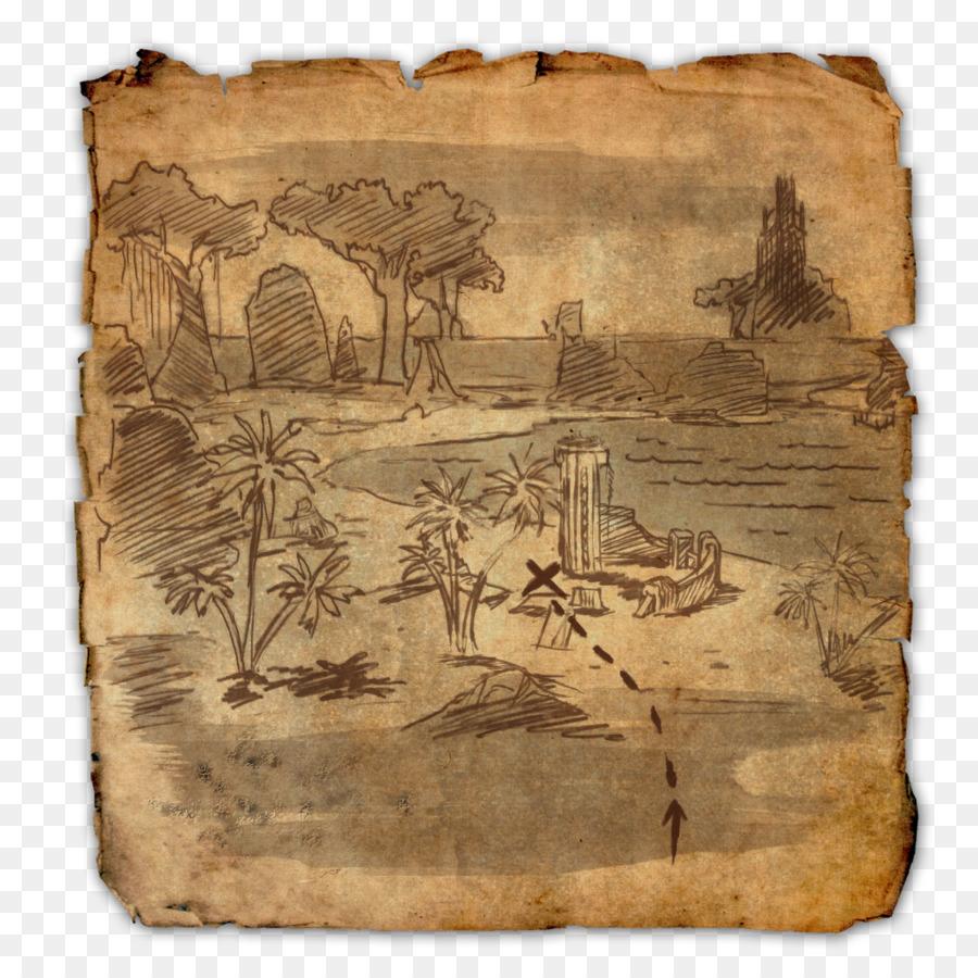 The Elder Scrolls Online Treasure map World map - map png download ...