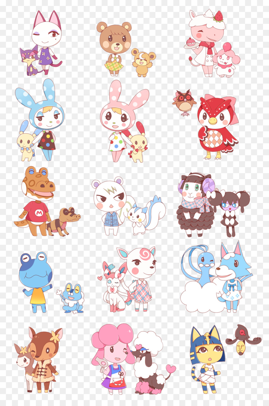 Animal Crossing New Leaf Pink png download - 1024*1536 - Free