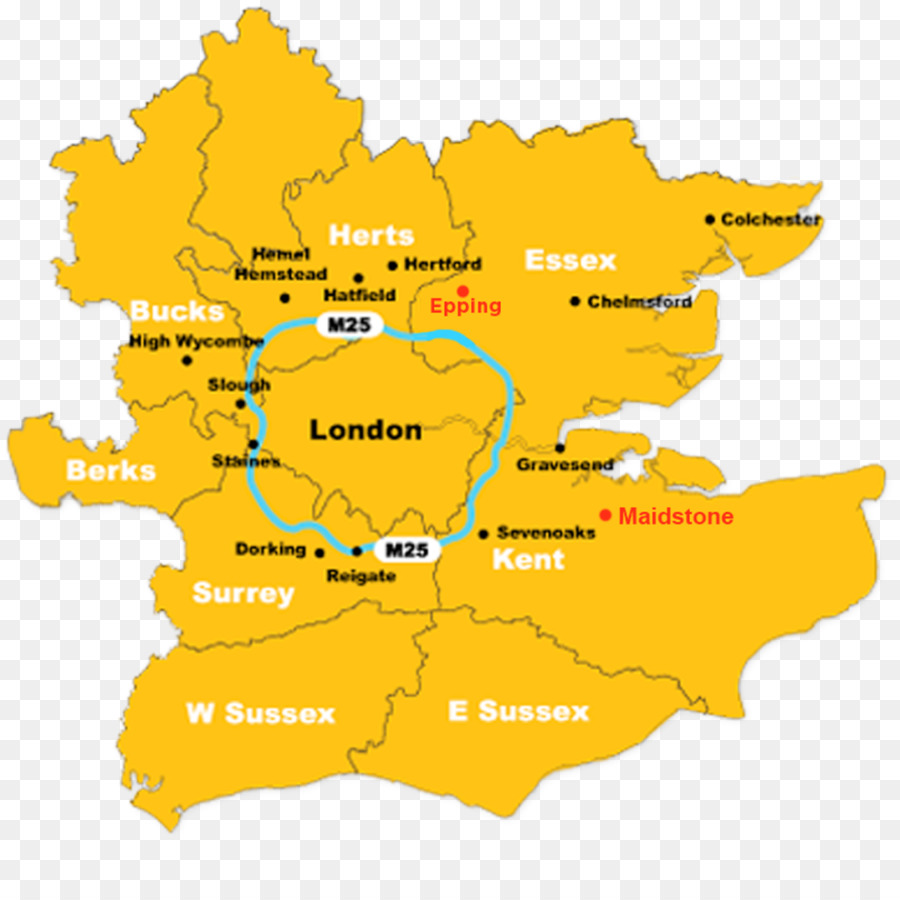 Home Counties M25 Motorway Map Surrey County Map Png Download 1024 1024 Free Transparent