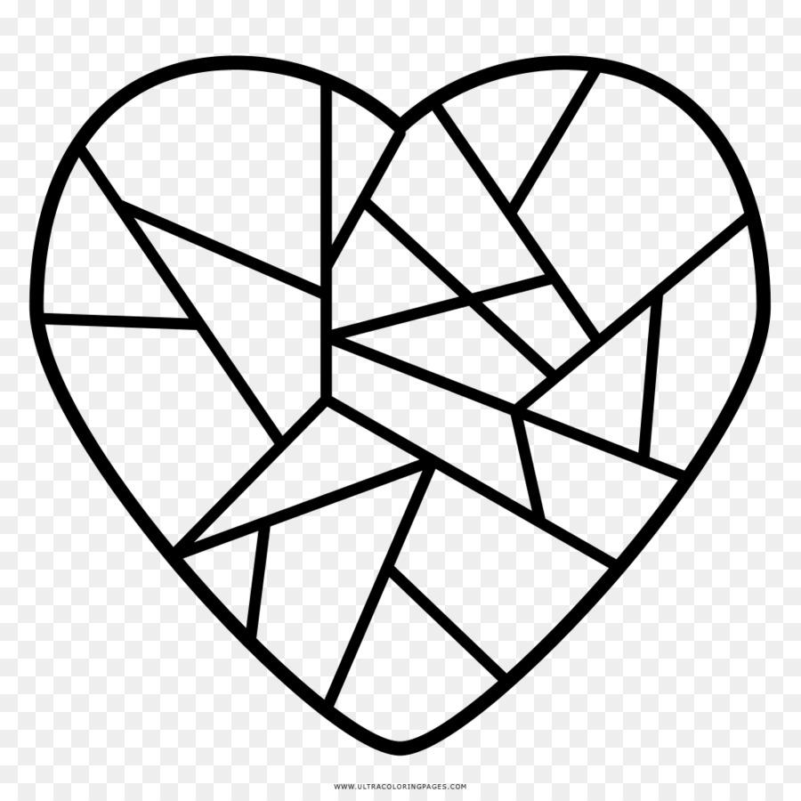 Kırık Kalp Boyama Kitabı Kırık Kalp çizim Kalp Png Indir 1000