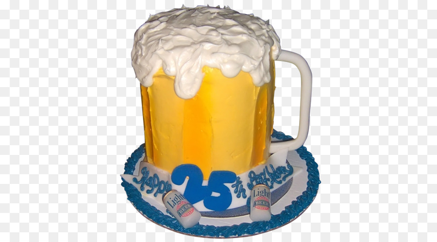Birthday Cake Beer Torte Yellow PNG