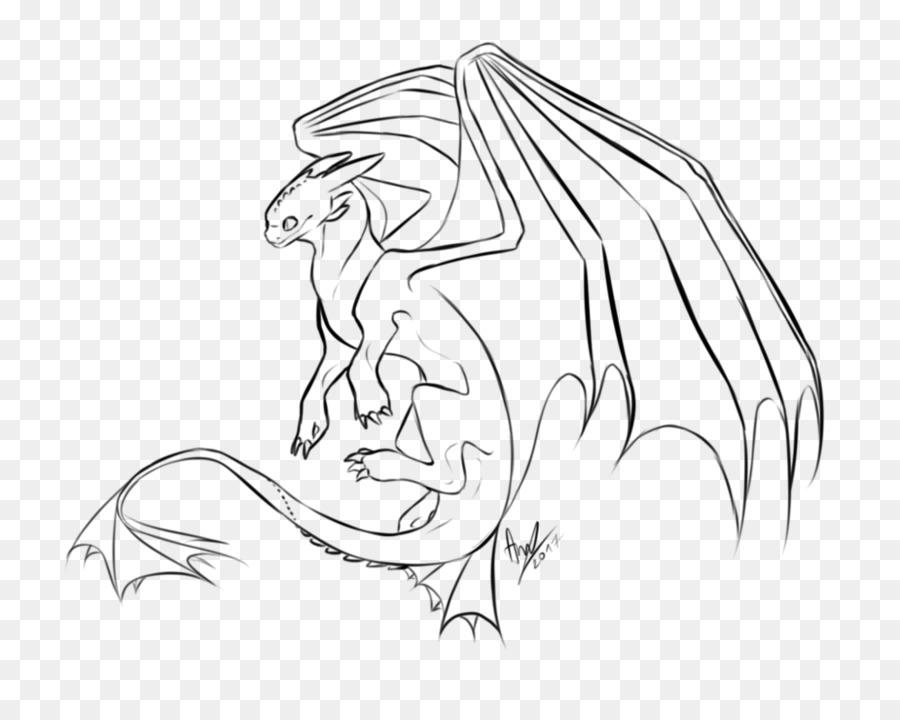Line Art Drawing Night Fury Sketch Night Fury Png Download 999