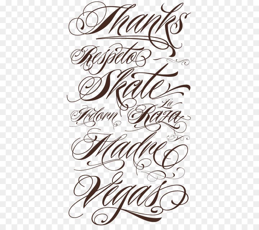 Lettering Cursive Script Typeface Tattoo Font