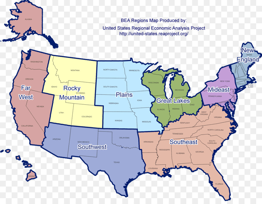 Contiguous United States Southern United States Great Basin Map ...