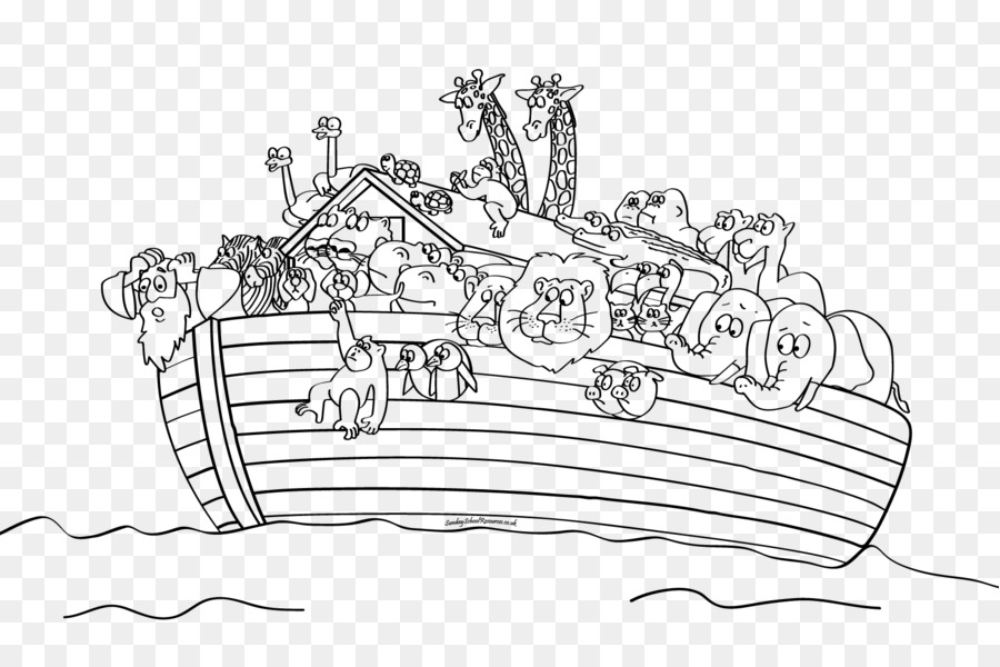 Noah\'s Ark Bible story Coloring book Child - noah ark png download ...