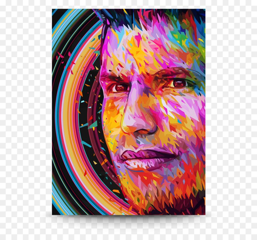 Moderne Kunst Acryl Malen Porträt Acryl Harz Farbe Png