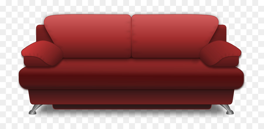 Sofa bed Couch Furniture Living room Clip art - Red Sofa png ...