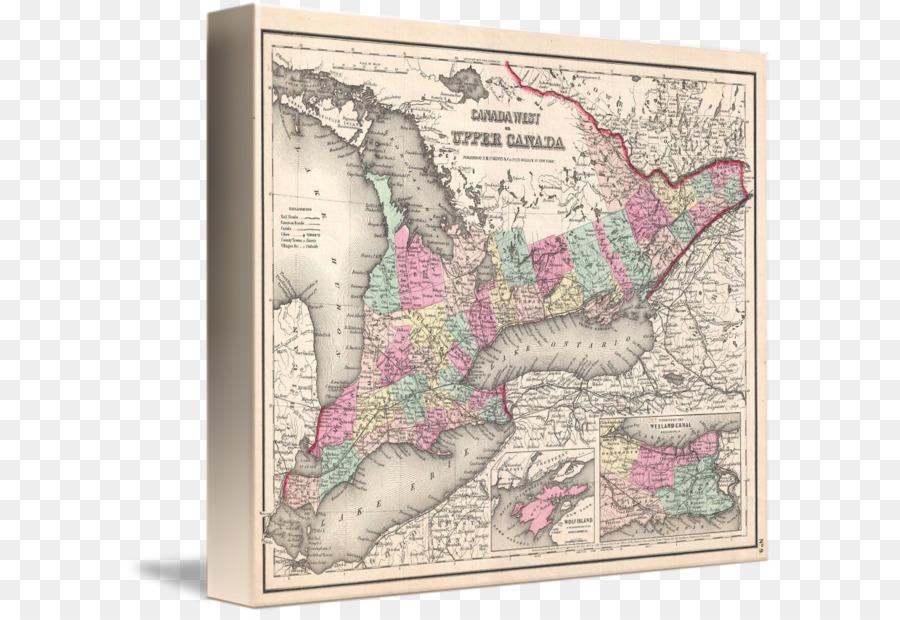 Ontario Mapa camilla Marcos de fotos de la Lona - mapa png dibujo ...