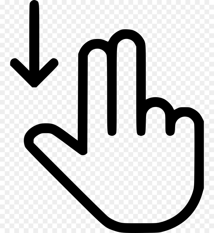 Computer Mouse Pointer Gesture Hand Cursor Scroll Down Png