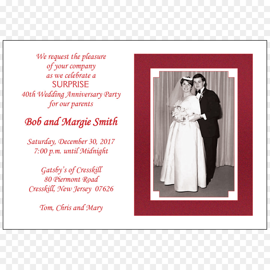 Wedding invitation Wedding anniversary Party - wedding png download ...
