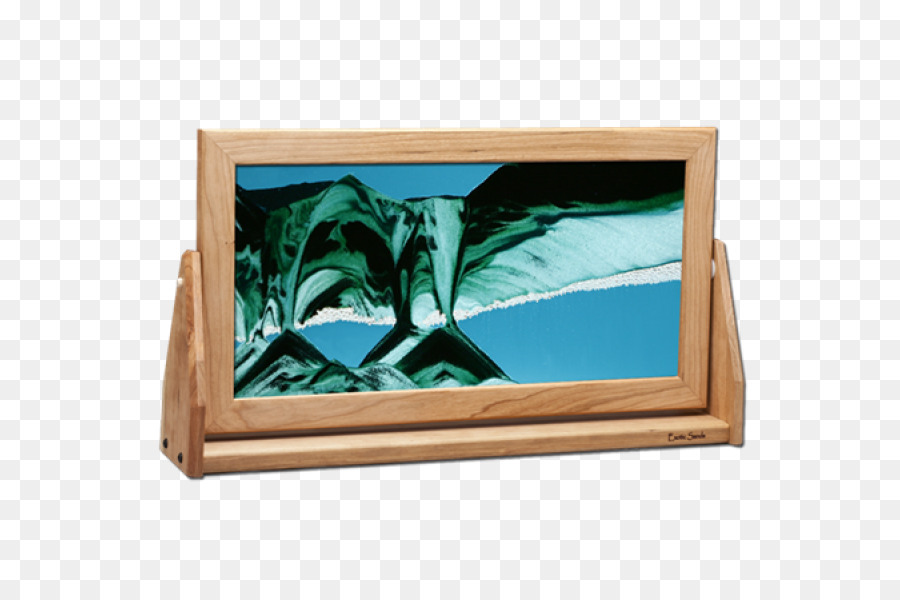 Picture Frames Sand art and play Glass Wood - sand png download ...