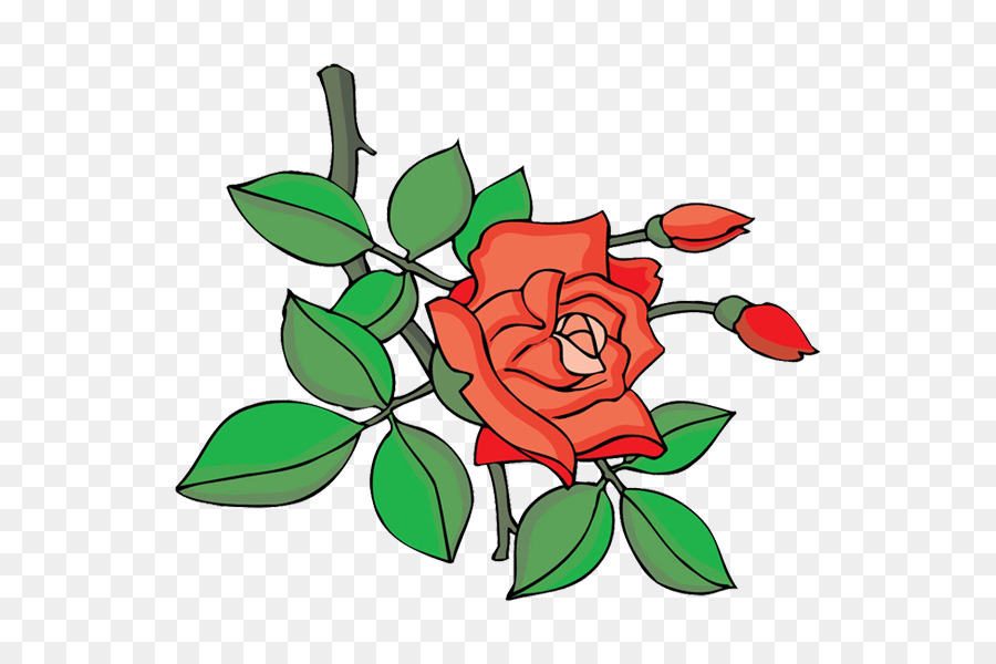Garten Rosen Cartoon Blumen Design Clip Art Design Png