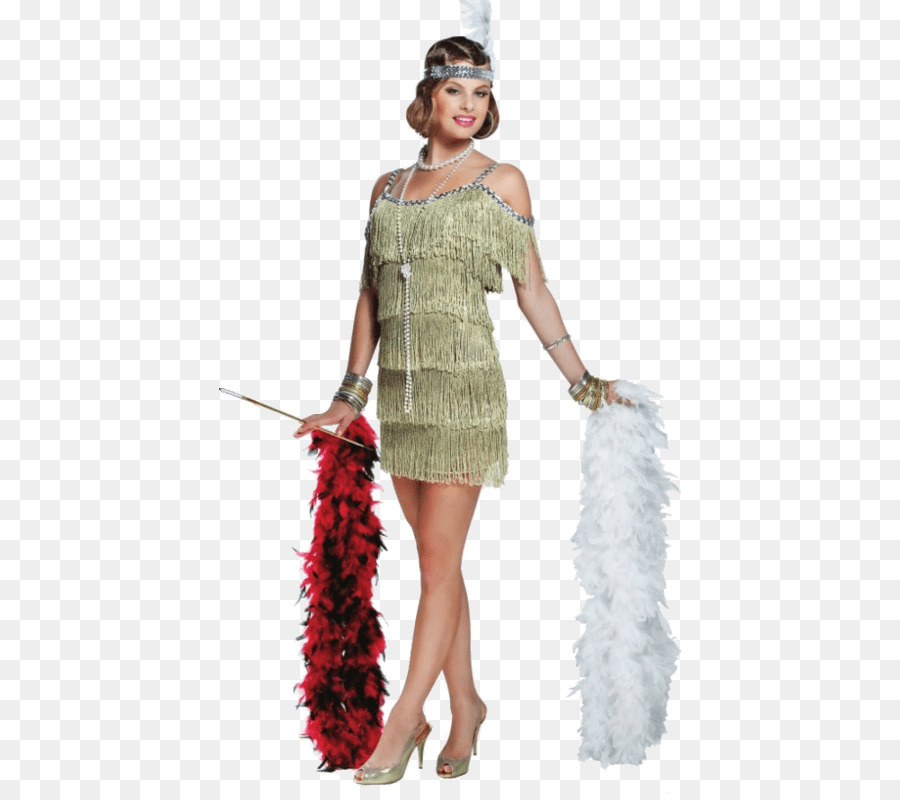 1920s The Great Gatsby Flapper Costume Dress - dress png download ...