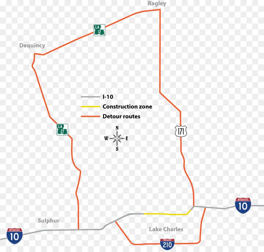 Interstate Map Of Louisiana.Louisiana Department Of Transportation And Development Lake Charles