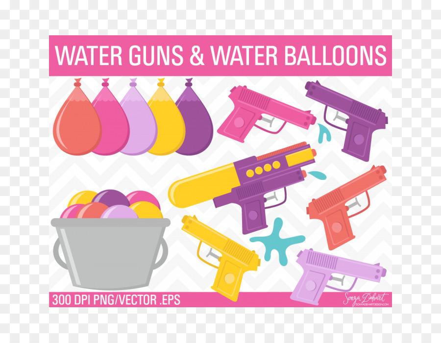 Water Gun Water Balloon Water Fight Clip Art Waterballoon Png
