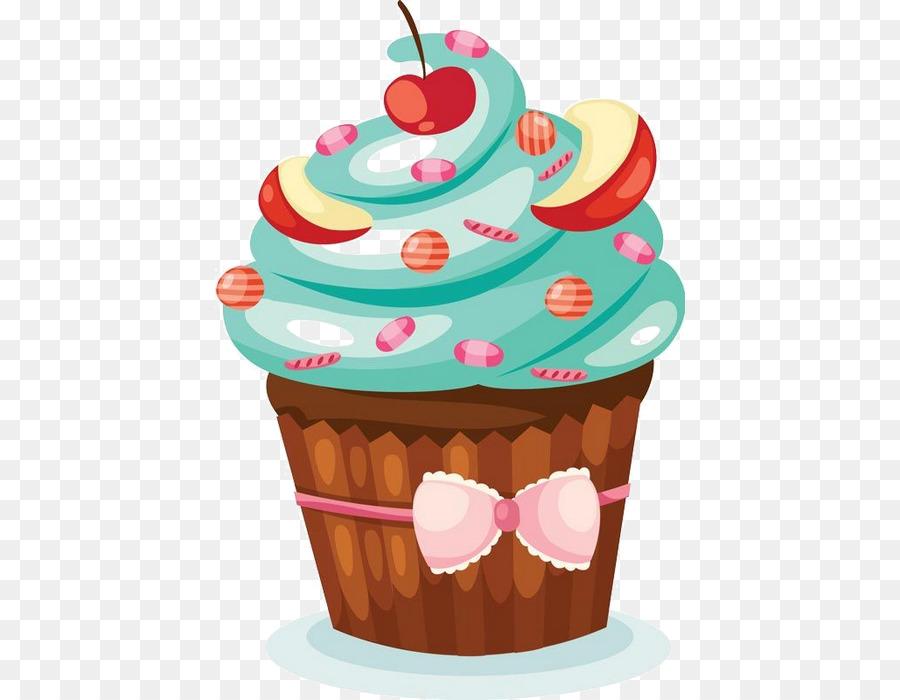 Cupcake Birthday Cake Dessert Food PNG