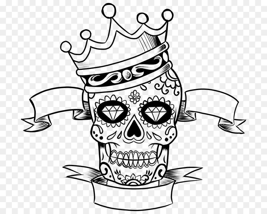 Calavera para Colorear libro Cráneo Día del Niño Muerto - bien png ...